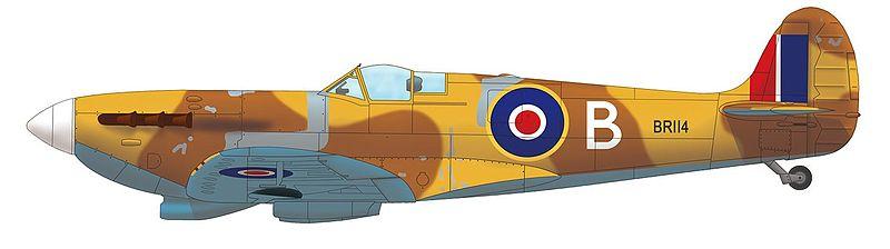 Supermarine Spitfire Mk.VC, BR114, Abukir (Egipto), 1942.