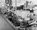 Sporting goods at Clark's, a grocery, drug, sundries, and department store and lunch counter, 3900 North Independence Boulevard, Charlotte, NC, c.1962 or 1963. From the General Negative Collection, (6876068343).jpg