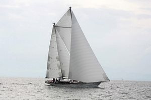 Ketch - A ketch under sail.
