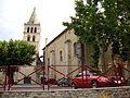 St.Etienne-de-Fontbellon (Ardèche, Fr) église, façade et nef.JPG