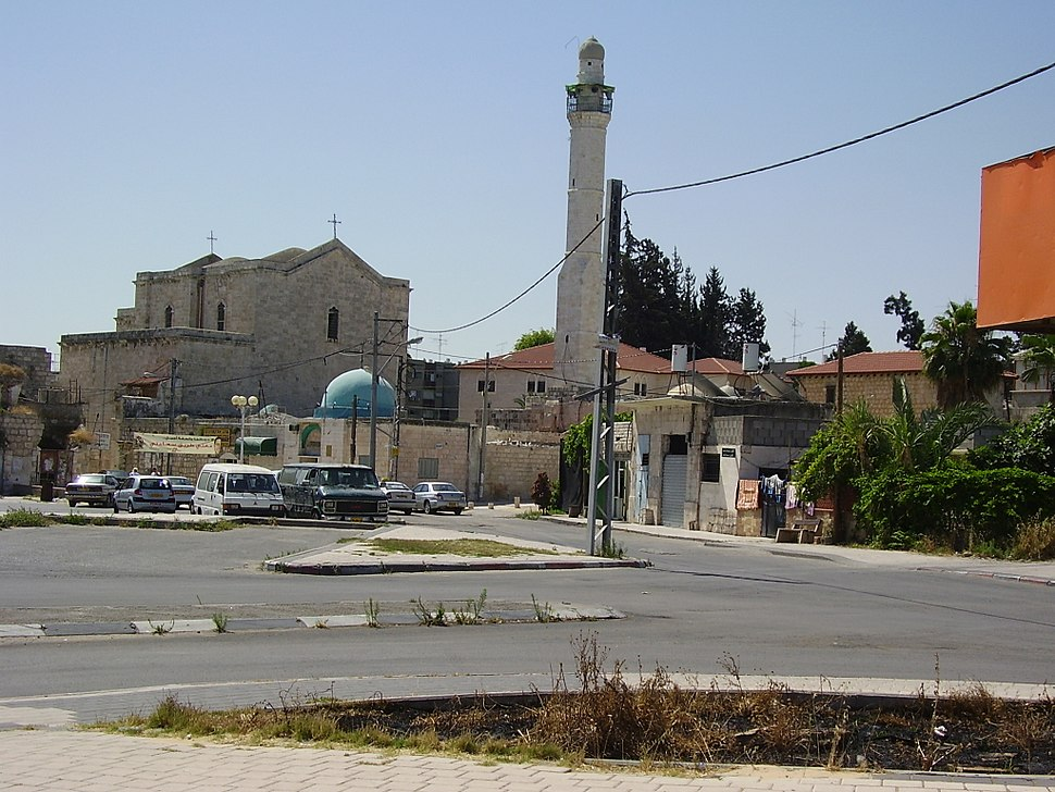 St. George Church and the great Mosque in Lod