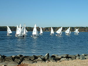 St. Mary's Seahawks - Image: St. Mary's College of Maryland Sailing Team practicing