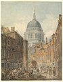 St. Paul's Cathedral from St. Martin's-le-Grand MET DP821131.jpg
