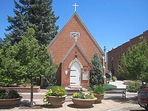 "St. Vrain Historical Society - ""Old"" St. Stephen's Church, home to the St. Vrain Historical Society"