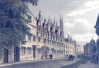 Merton College, Oxford - St Alban Hall, pictured in 1837