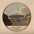 St Bartholomew's Hospital, London; a view of the courtyard. Wellcome V0012998.jpg