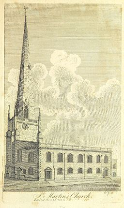 St Martin in the Bull Ring circa 1809