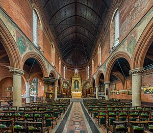 St Mary's, Bourne Street - The interior of St Mary's, looking north-east toward the altar
