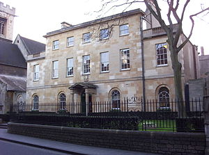 St Peter's College, Oxford - Linton House houses the Porters' Lodge and Library