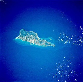Saint Croix - Saint Croix from space, January 1992