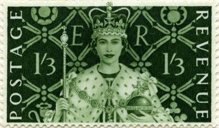 Stamp UK 1953 1shilling3d coronation