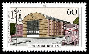 AEG turbine factory - 750 Jahre Berlin, Poststamp;1987