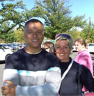 Stan Grant (journalist) - Stan Grant and wife Tracey Holmes, in 2008