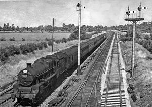 Standish, Gloucestershire - Bradford to Bournemouth West express at Standish Junction in 1951