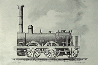 York, Newcastle and Berwick Railway - One of the Stanhope and Tyne's locomotives