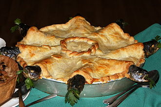 Stargazy pie - A stargazy pie, ready to serve