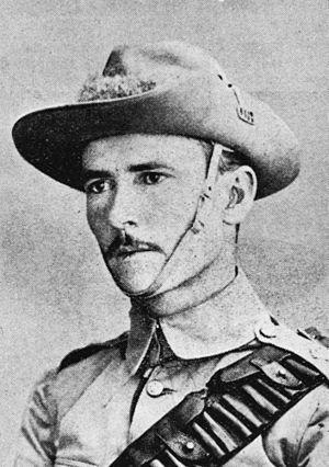 Caskey Monument - Lieutenant Lachlan J. Caskey of the 5th Queensland Contingent, circa 1901