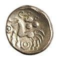Stater van de Eburonen in goud, 60 tot 50 VC, vindplaats- Vechmaal, Bornebeemden, collectie Gallo-Romeins Museum Tongeren, 06-07, 006.jpg