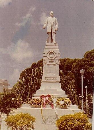 Juan Morel Campos - Statue of Juan Morel Campos at Plaza Las Delicias in Ponce