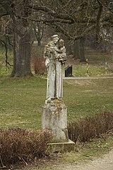 Socha sv. Antonína Paduánského v Budkově