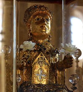 Statue reliquaire de Sainte Foy de Conques (cropped)