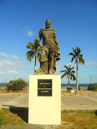 Francisco Hernández de Córdoba (founder of Nicaragua) - A statue of Francisco Hernández de Córdoba in Granada