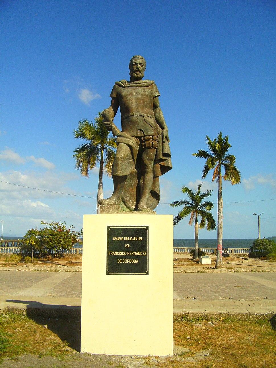 Statue von Francisco Hernández de Córdoba