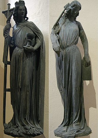 Ecclesia and Synagoga - The original Ecclesia and Synagoga from the portal of Strasbourg Cathedral, now in the museum and replaced by replicas