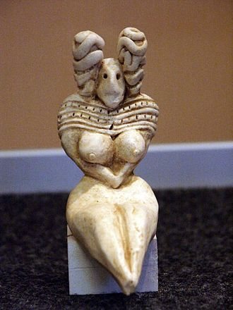 Mehrgarh - A figurine from Mehrgarh, similar to the Venus figurines