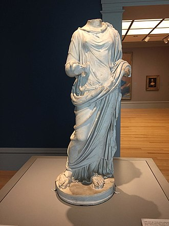 Salus - A marble statuette of Salus made during the Roman Imperial Period (c. 69–192 A.D.)