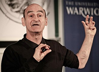 Stelarc - Stelarc showing his third ear at the Warwick University in 2011