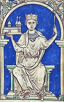A 13-century manuscript depiction of King Stephen