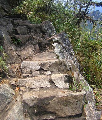 Huayna Picchu - The track to the peak
