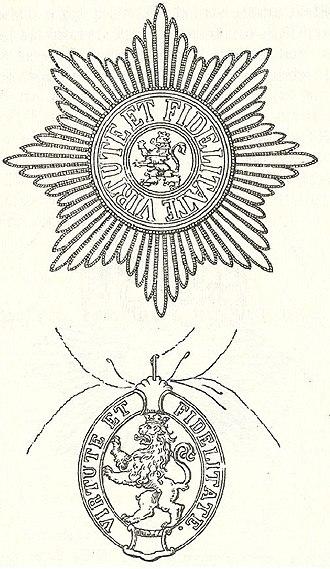 House Order of the Golden Lion (Hesse-Kassel) - Image: Ster en kleinood van de Hessische Huisorde van de Gouden Leeuw