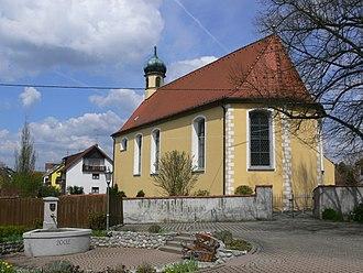 Stetten, Bodenseekreis - Stetten, Bodenseekreis: Chapel St. Peter and Paul in the center of the village