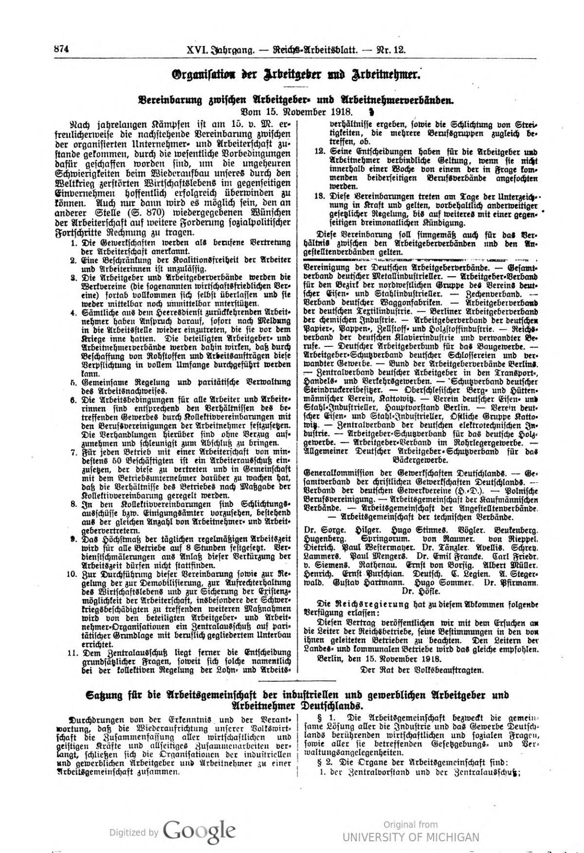 Stinnes-Legien-Abkommen – Wikipedia