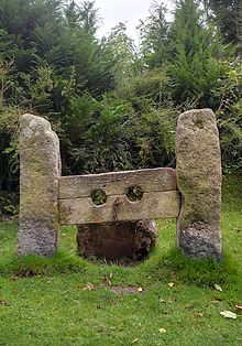 the stocks at belstone in dartmoor a grade ii listed monument