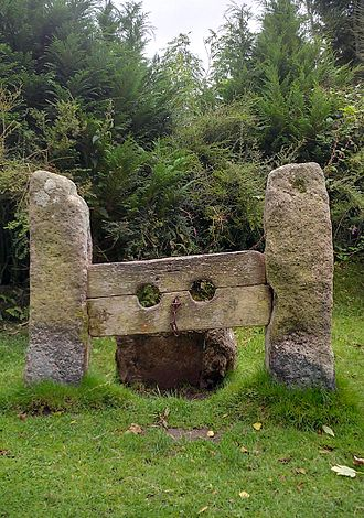 Stocks - The Stocks at Belstone in Dartmoor, a Grade II listed monument.