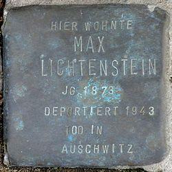 Photo of Max Moishe Lichtenstein brass plaque