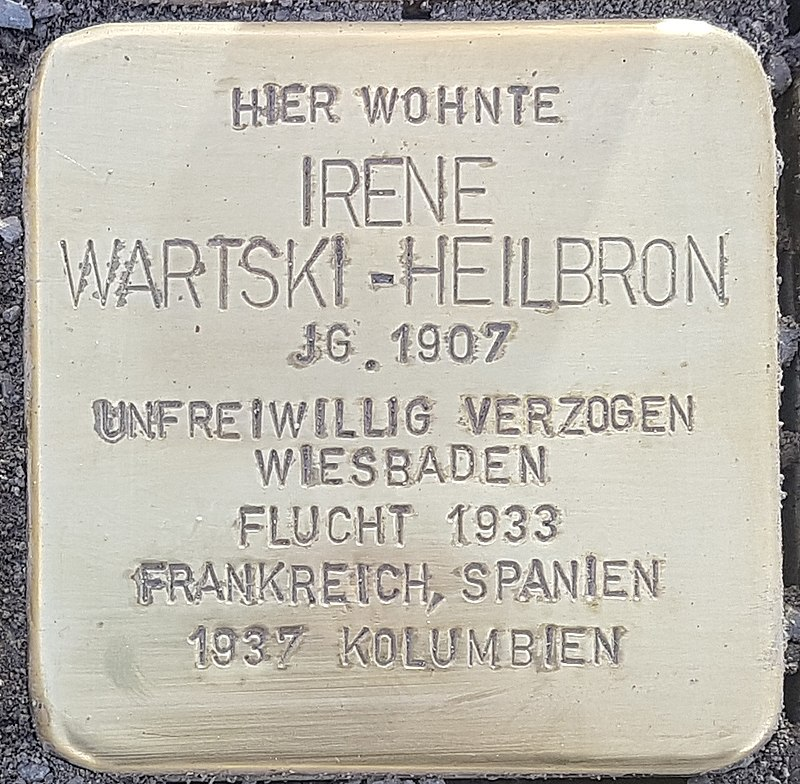 Stolperstein Aalen Irene Wartski-Heilbron Bahnhofstraße 18.jpg