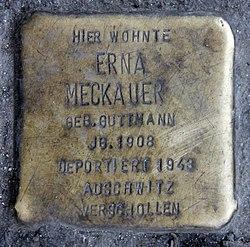Photo of Erna Meckauer brass plaque
