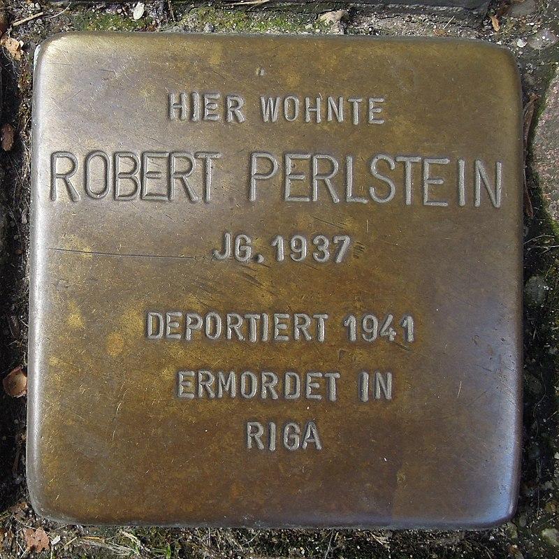 Stolperstein Dorsten Essener Straße 18-20 Robert Perlstein.jpg
