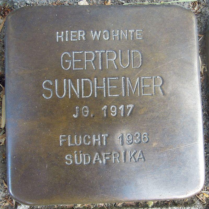 Stolperstein für Gertrud Sundheimer