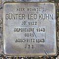 Stolperstein Karlsruhe Günter Leo Kuhn.jpg