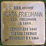 Stolperstein Klara Friedmann Jena 2014.jpg