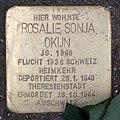 Stolperstein Meiningenallee 7 (Westend) Rosalie Sonja Okun.jpg