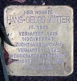 Photo of Hans-Georg  Vötter brass plaque