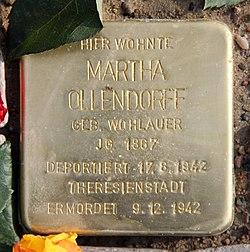 Stolperstein rüsternallee 37 (westend) martha ollendorff