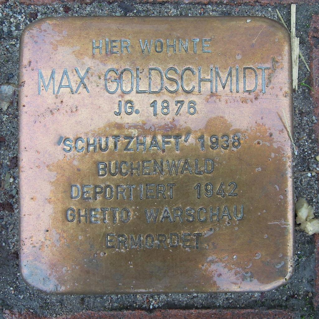 Stolperstein Rehburg-Loccum Mühlentorstraße 14 Max Goldschmidt