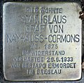 Stolperstein Stierstr 4 (Friedn) Stanislaus Graf von Nayhauss-Cormons.jpg
